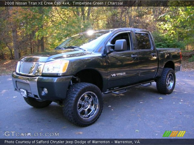 timberline green 2008 nissan titan xe crew cab 4x4 charcoal interior. Black Bedroom Furniture Sets. Home Design Ideas