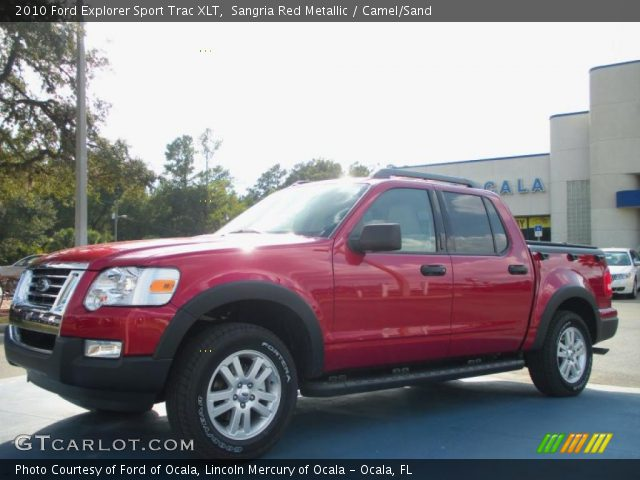 sangria red metallic 2010 ford explorer sport trac xlt camel sand interior. Black Bedroom Furniture Sets. Home Design Ideas