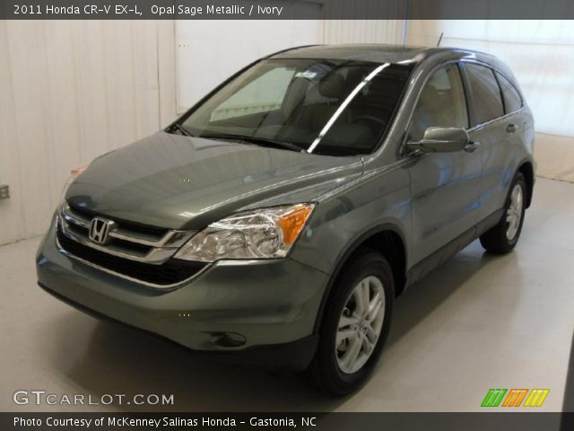 2011 Honda CR-V EX-L in Opal Sage Metallic