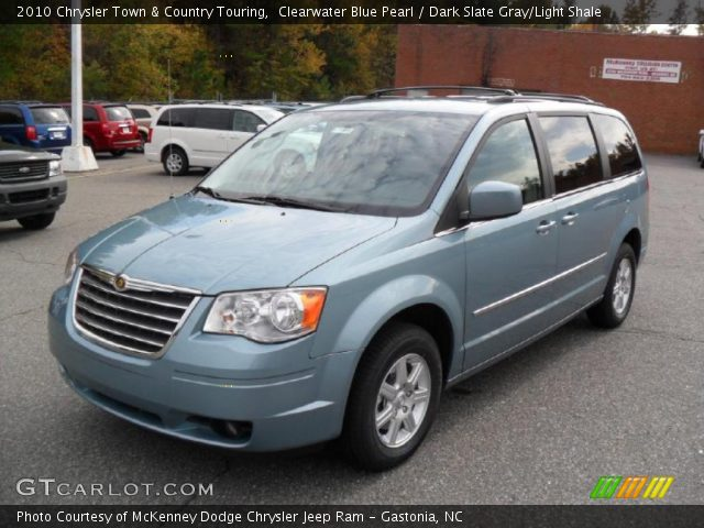 2010 Chrysler Town & Country Touring in Clearwater Blue Pearl
