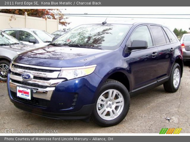 kona blue metallic 2011 ford edge se charcoal black. Black Bedroom Furniture Sets. Home Design Ideas