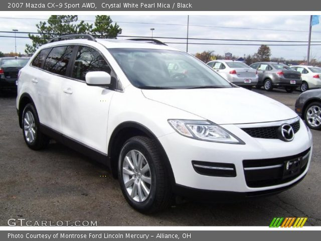 crystal white pearl mica 2007 mazda cx 9 sport awd. Black Bedroom Furniture Sets. Home Design Ideas