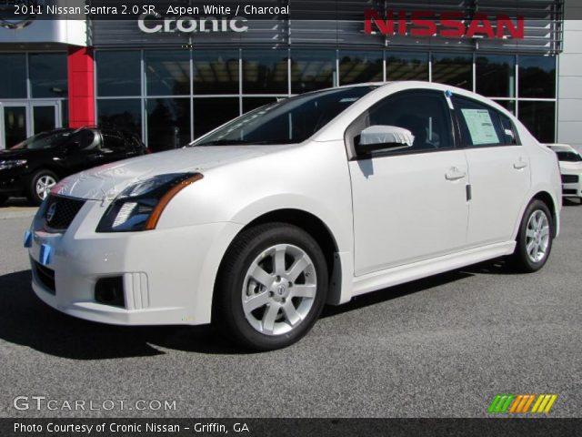 Aspen White - 2011 Nissan Sentra 2.0 SR - Charcoal Interior   GTCarLot ...