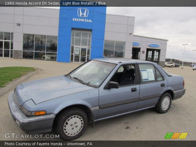1989 honda accord. Light Blue Metallic 1989 Honda