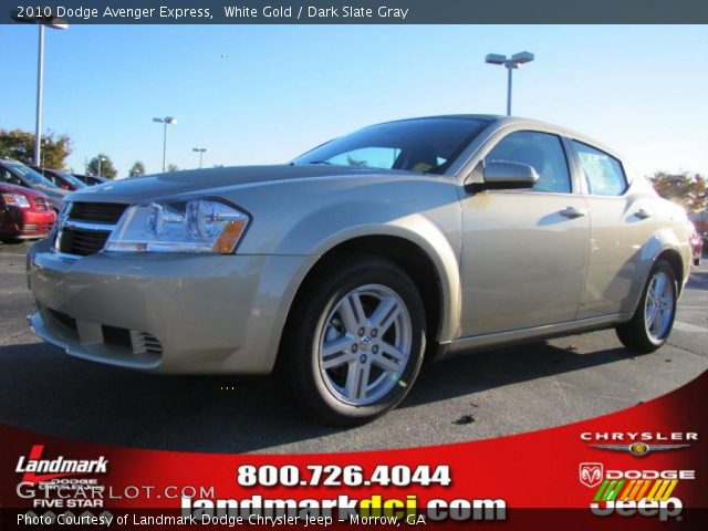 White Gold - 2010 Dodge Avenger Express - Dark Slate Gray Interior ...