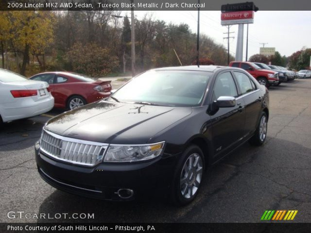 Tuxedo Black Metallic 2009 Lincoln MKZ AWD Sedan with Dark Charcoal ...