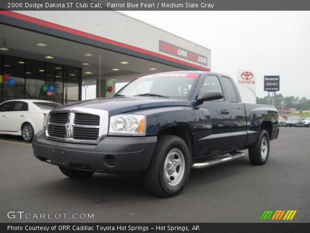 patriot blue pearl 2006 dodge dakota st club cab medium slate gray interior. Black Bedroom Furniture Sets. Home Design Ideas