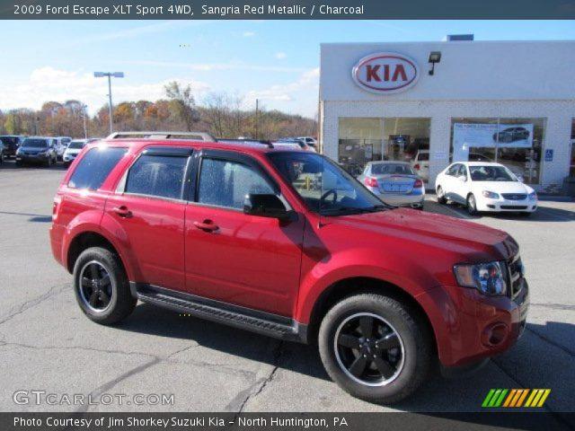 sangria red metallic 2009 ford escape xlt sport 4wd. Black Bedroom Furniture Sets. Home Design Ideas