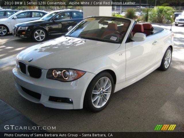 Alpine White 2010 Bmw 1 Series 128i Convertible Coral