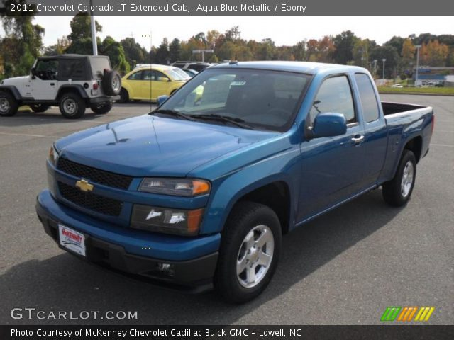 aqua blue metallic 2011 chevrolet colorado lt extended. Black Bedroom Furniture Sets. Home Design Ideas