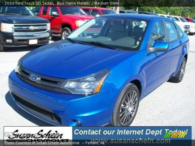 blue flame metallic 2010 ford focus ses sedan medium. Black Bedroom Furniture Sets. Home Design Ideas