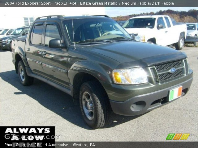 estate green metallic 2004 ford explorer sport trac xlt 4x4 medium pebble dark pebble. Black Bedroom Furniture Sets. Home Design Ideas