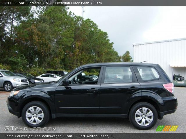 Obsidian Black Pearl 2010 Subaru Forester 2 5 X Black Interior Vehicle