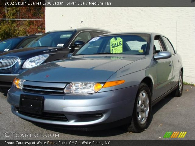 silver blue 2002 saturn l series l300 sedan medium tan interior vehicle. Black Bedroom Furniture Sets. Home Design Ideas