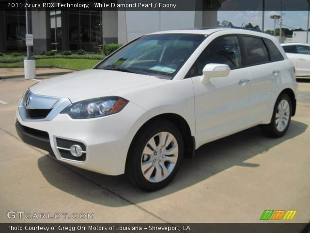 White Diamond Pearl 2011 Acura RDX Technology with Ebony interior 2011 Acura