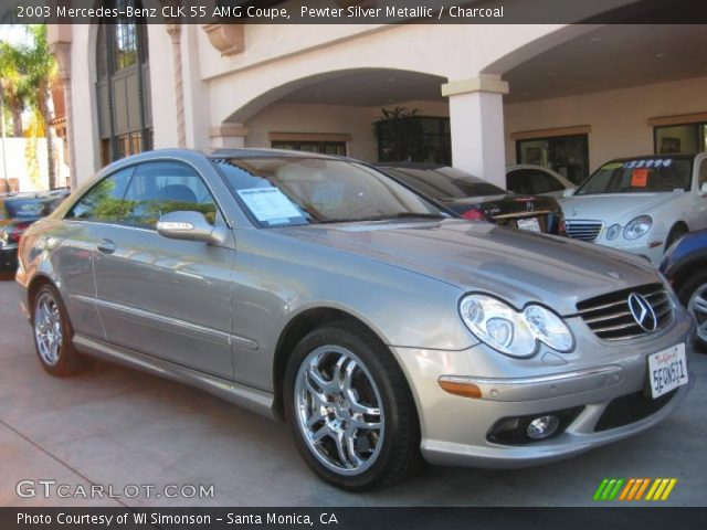 2003 Mercedes-Benz CLK 55 AMG Coupe in Pewter Silver Metallic