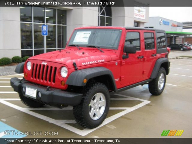 Flame red 2011 jeep wrangler unlimited rubicon 4x4 - Jeep wrangler red interior for sale ...