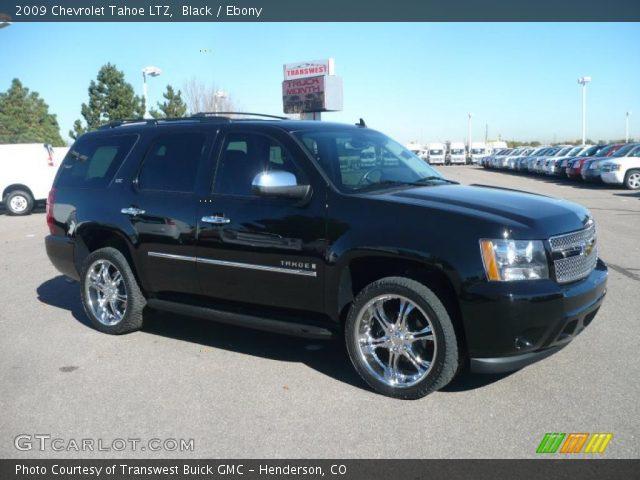 Black 2009 Chevrolet Tahoe Ltz Ebony Interior Vehicle Archive 39148277