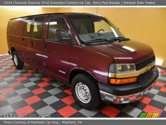 berry red metallic 2004 chevrolet express 3500 extended. Black Bedroom Furniture Sets. Home Design Ideas