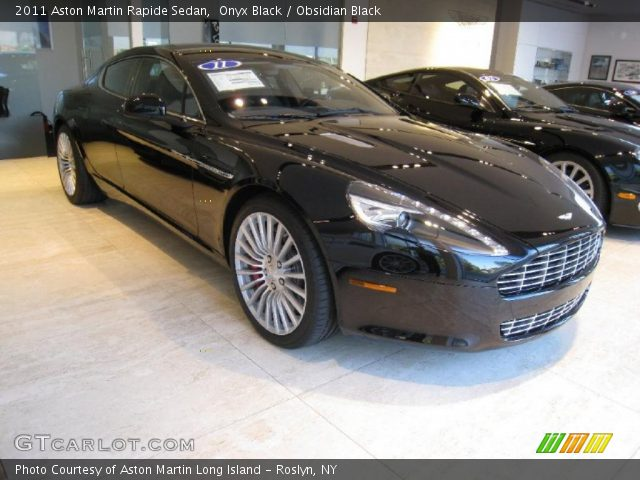 2011 Aston Martin Rapide Sedan in Onyx Black