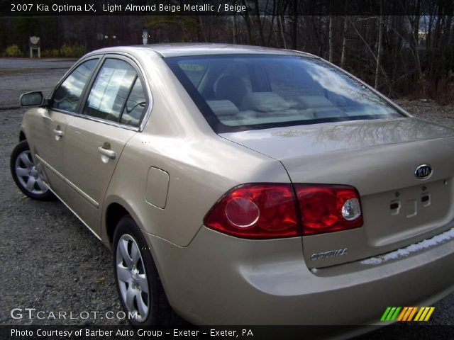 2007 Kia Optima LX in Light Almond Beige Metallic. Click to see large ...