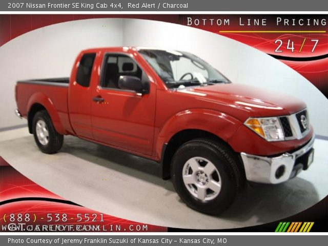 red alert 2007 nissan frontier se king cab 4x4 charcoal interior vehicle. Black Bedroom Furniture Sets. Home Design Ideas