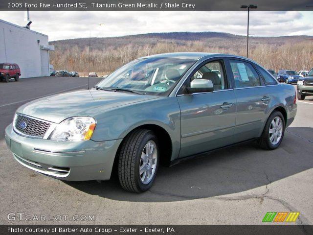 titanium green metallic 2005 ford five hundred se shale grey interior. Black Bedroom Furniture Sets. Home Design Ideas