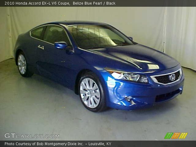 2010 Honda Accord Ex L V6 Coupe In Belize Blue Pearl