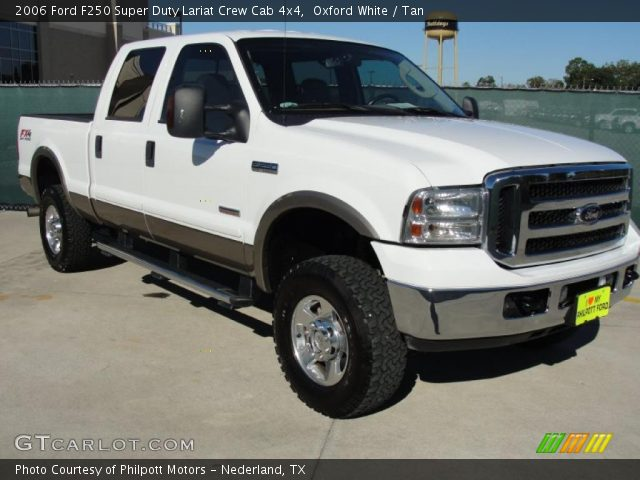 oxford white 2006 ford f250 super duty lariat crew cab. Black Bedroom Furniture Sets. Home Design Ideas