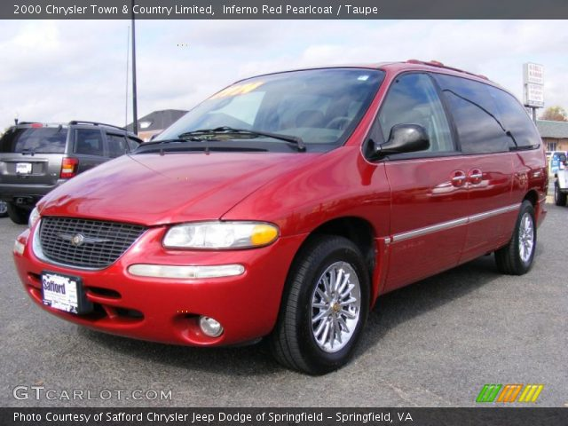 inferno red pearlcoat 2000 chrysler town country limited taupe interior. Black Bedroom Furniture Sets. Home Design Ideas