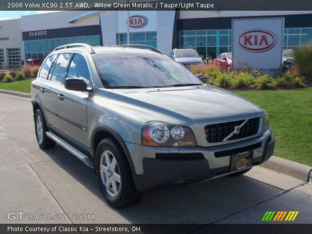 willow green metallic 2006 volvo xc90 2 5t awd taupe light taupe interior. Black Bedroom Furniture Sets. Home Design Ideas