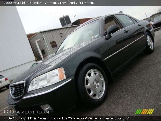 vermont green pearl 2000 acura rl 3 5 sedan parchment. Black Bedroom Furniture Sets. Home Design Ideas