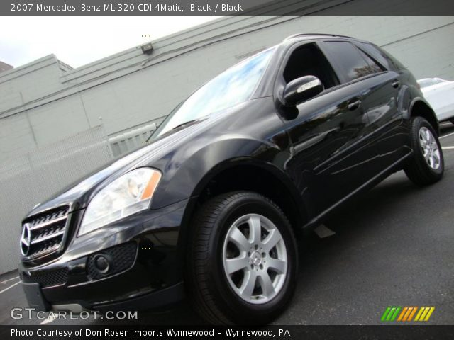 black 2007 mercedes benz ml 320 cdi 4matic black interior vehicle archive. Black Bedroom Furniture Sets. Home Design Ideas