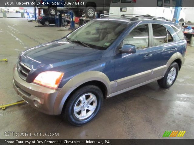 spark blue 2006 kia sorento lx 4x4 beige interior. Black Bedroom Furniture Sets. Home Design Ideas