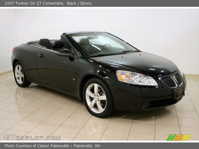 black 2007 pontiac g6 gt convertible ebony interior vehicle archive 39326122. Black Bedroom Furniture Sets. Home Design Ideas