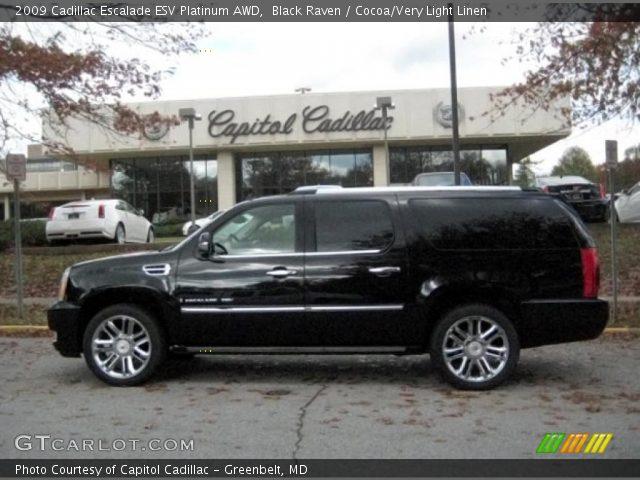 2009 Cadillac Escalade ESV Platinum AWD in Black Raven