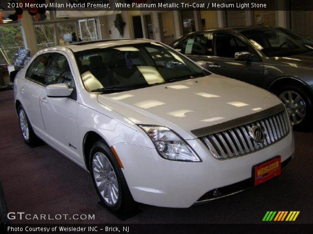 2010 Mercury Milan Hybrid Premier in White Platinum Metallic Tri-Coat
