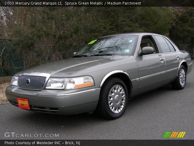 spruce green metallic 2003 mercury grand marquis ls medium parchment interior. Black Bedroom Furniture Sets. Home Design Ideas
