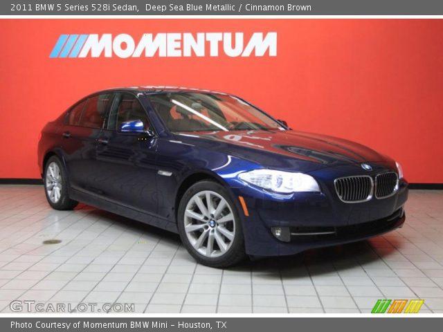 2011 BMW 5 Series 528i Sedan in Deep Sea Blue Metallic