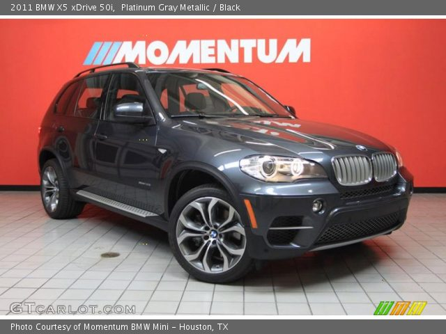 platinum gray metallic 2011 bmw x5 xdrive 50i black. Black Bedroom Furniture Sets. Home Design Ideas