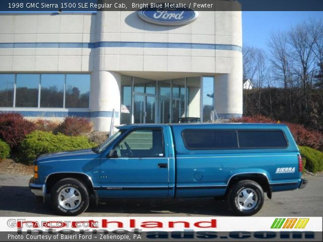 bright blue metallic 1998 gmc sierra 1500 sle regular. Black Bedroom Furniture Sets. Home Design Ideas