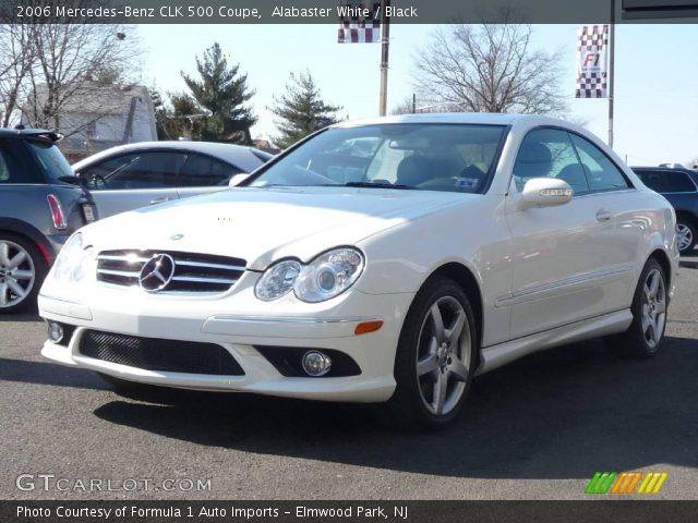Alabaster white 2006 mercedes benz clk 500 coupe black for 2006 mercedes benz clk 500