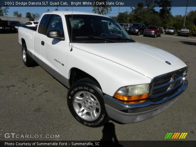 bright white 2001 dodge dakota slt quad cab dark slate. Black Bedroom Furniture Sets. Home Design Ideas