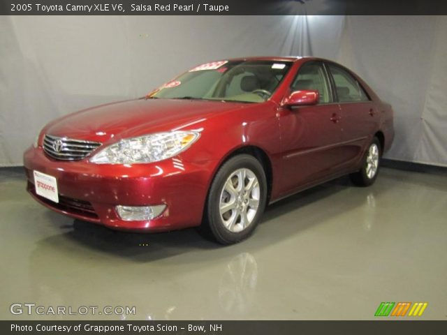 salsa red pearl 2005 toyota camry xle v6 taupe interior vehicle archive. Black Bedroom Furniture Sets. Home Design Ideas