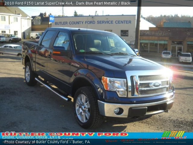 2010 Ford F150 Lariat SuperCrew 4x4 in Dark Blue Pearl Metallic