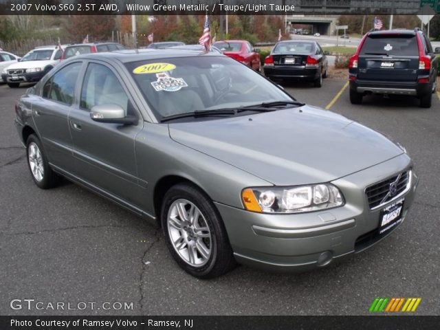 willow green metallic 2007 volvo s60 2 5t awd taupe light taupe interior. Black Bedroom Furniture Sets. Home Design Ideas
