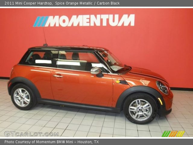 spice orange metallic 2011 mini cooper hardtop carbon black interior. Black Bedroom Furniture Sets. Home Design Ideas