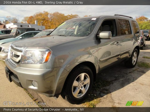 Sterling Gray Metallic 2009 Honda Pilot Ex L 4wd Gray Interior Vehicle