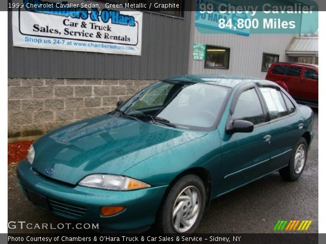 green metallic 1999 chevrolet cavalier sedan graphite. Black Bedroom Furniture Sets. Home Design Ideas