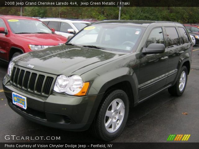 Jeep Green Metallic 2008 Jeep Grand Cherokee Laredo 4x4 Khaki Interior